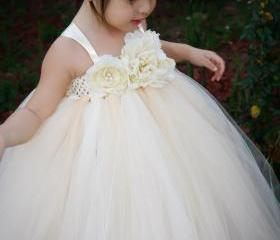 Reserved listing for Alice: Ivory Vintage with Pearls TuTu Dress in size 4t
